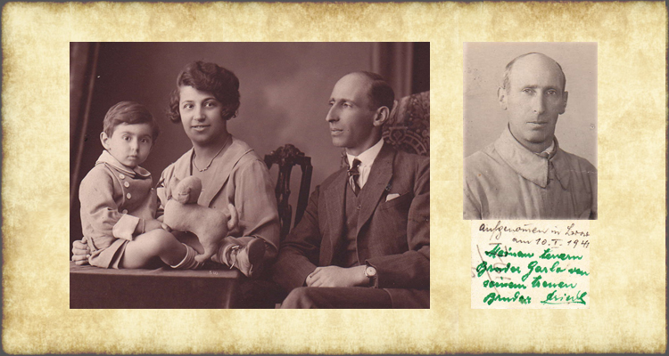 LEFT: Siegfried Jellinek seated next to his wife, Martha, and their two year-old son, Erich, 1926